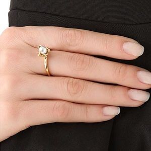 House of Harlow Pearl Talon Stacking Ring in Gold